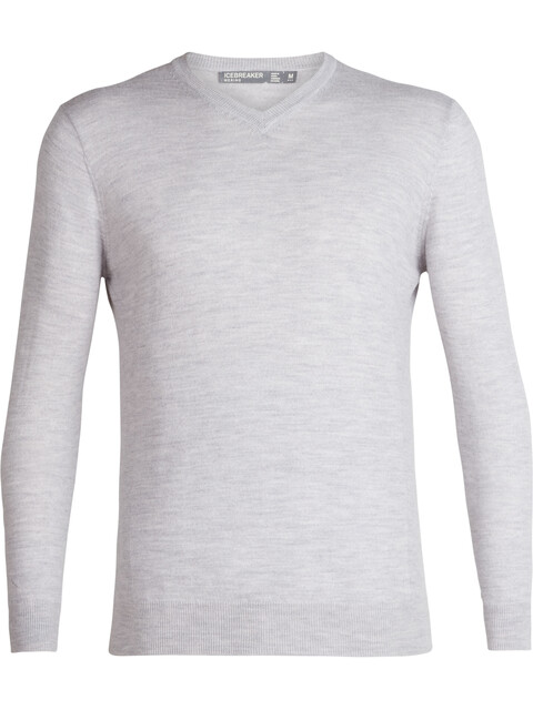 Icebreaker Shearer V-Neck Sweater Men Steel Heather